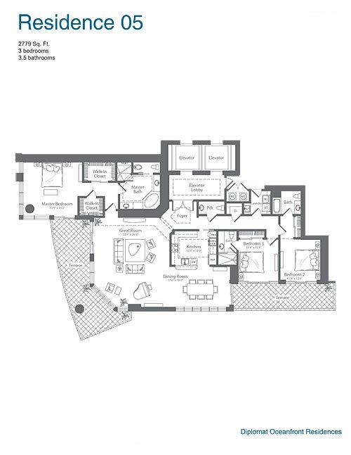 The Diplomat Residences - Floorplan 4