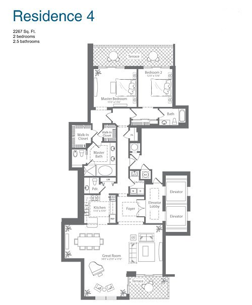 The Diplomat Residences - Floorplan 5