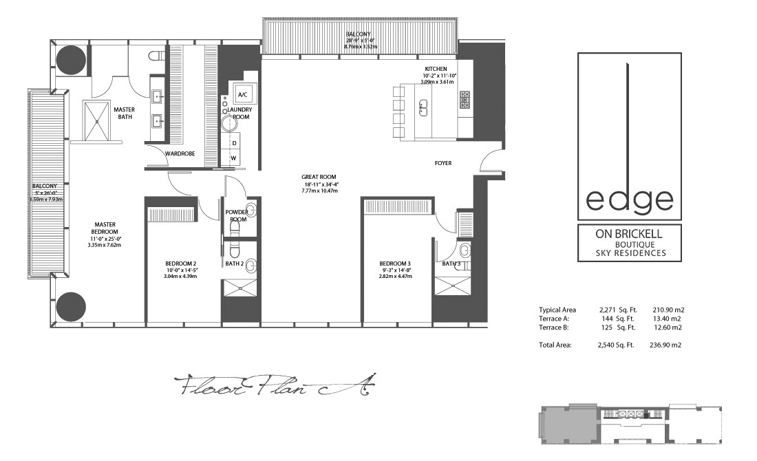 The Edge On Brickell - Floorplan 1