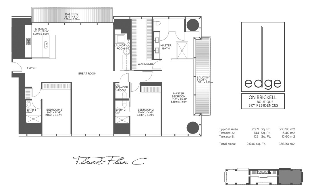 The Edge On Brickell - Floorplan 3