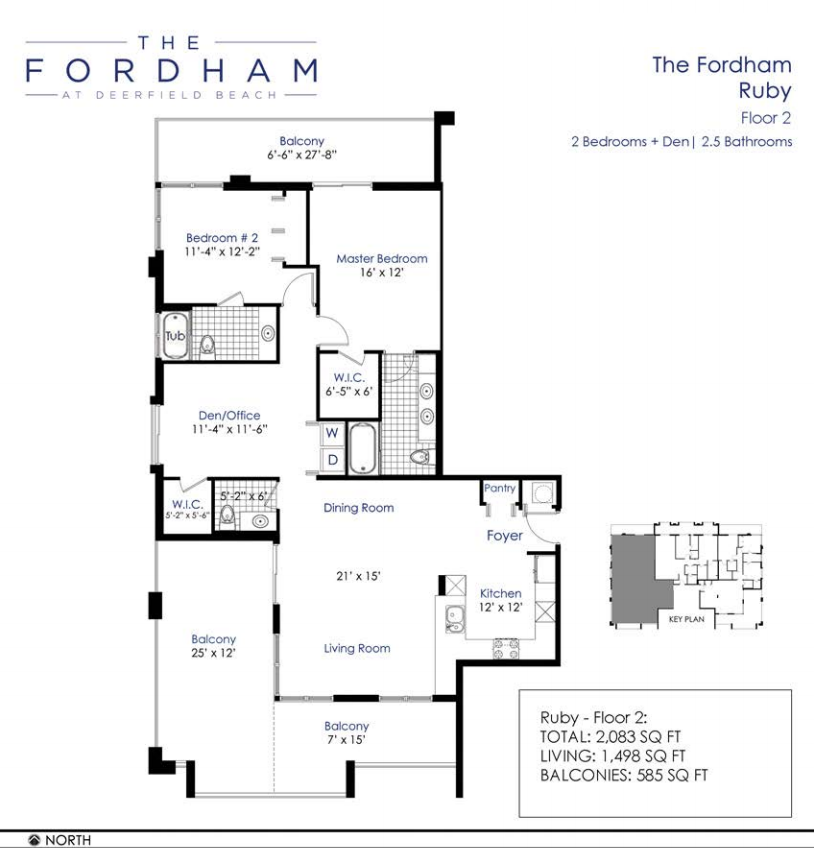 the fordham at deerfield beach floorplan 1 - Deefield Park Homes Floor Plans