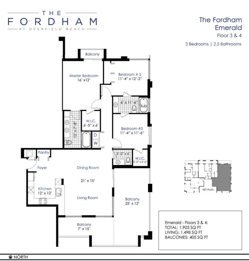 The Fordham at Deerfield Beach - Floorplan 2