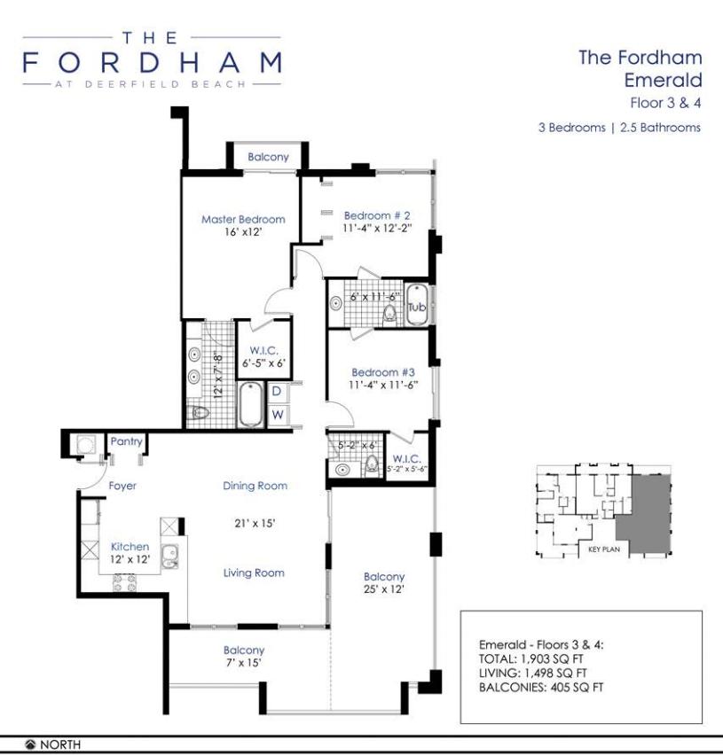 The Fordham at Deerfield Beach - Floorplan 2