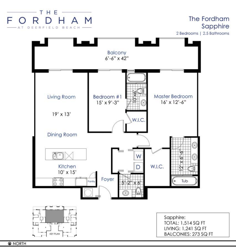 The Fordham at Deerfield Beach - Floorplan 3