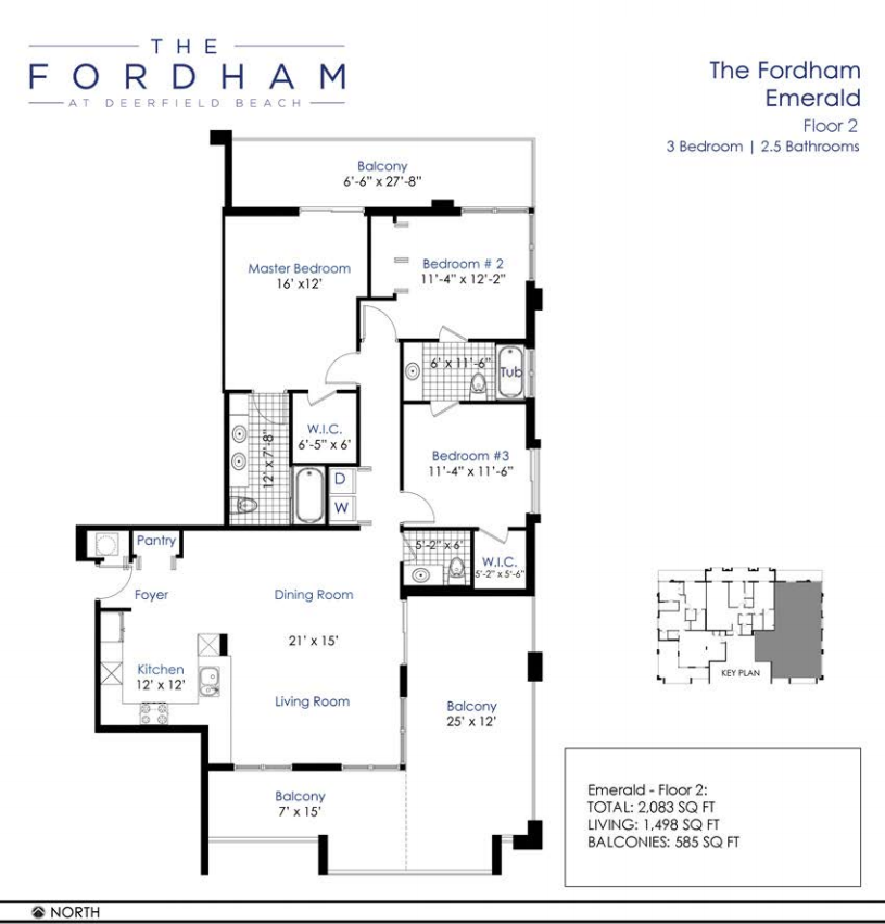 the fordham at deerfield beach floorplan 4 - Deefield Park Homes Floor Plans