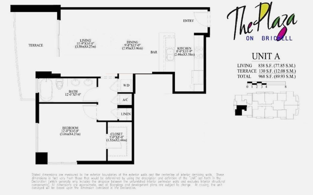 The Plaza On Brickell - Floorplan 1