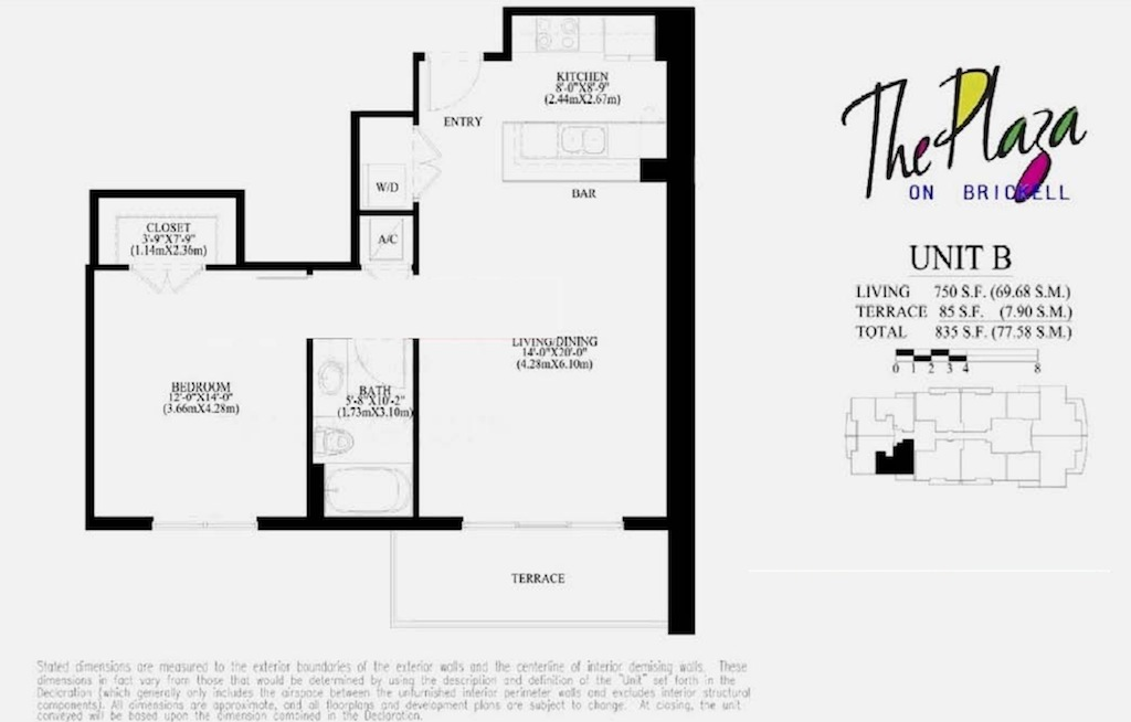 The Plaza On Brickell - Floorplan 2