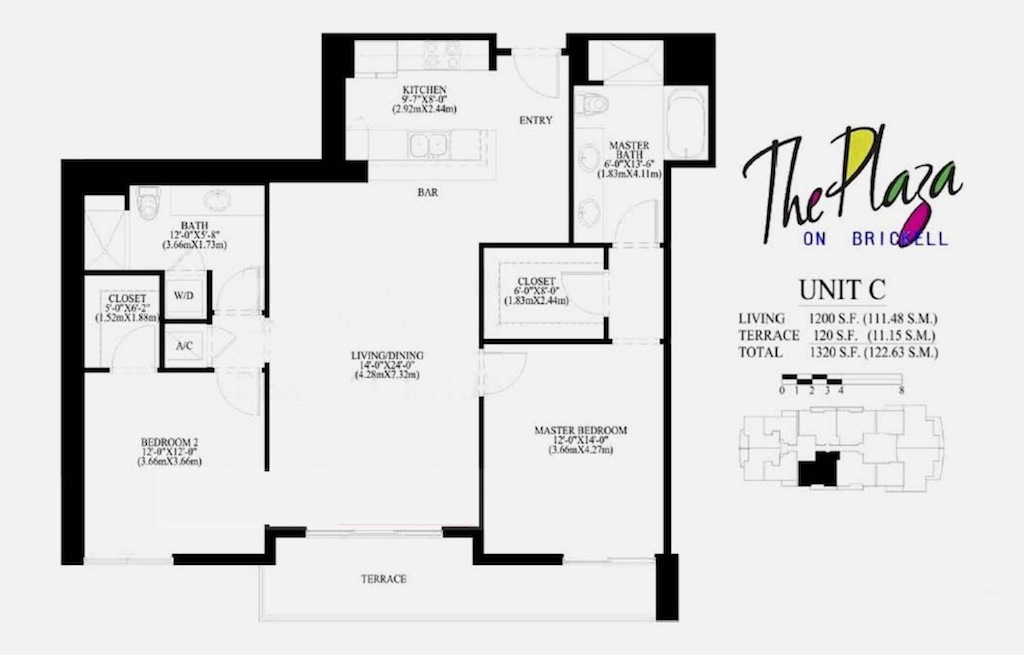 The Plaza On Brickell - Floorplan 3