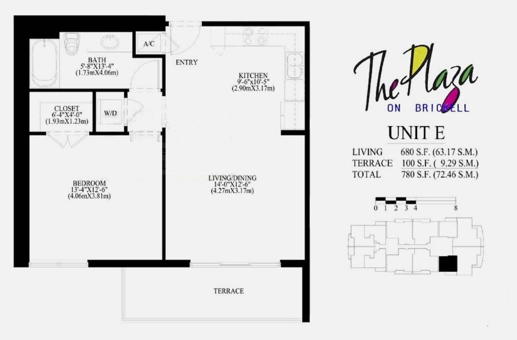 The Plaza On Brickell - Floorplan 5