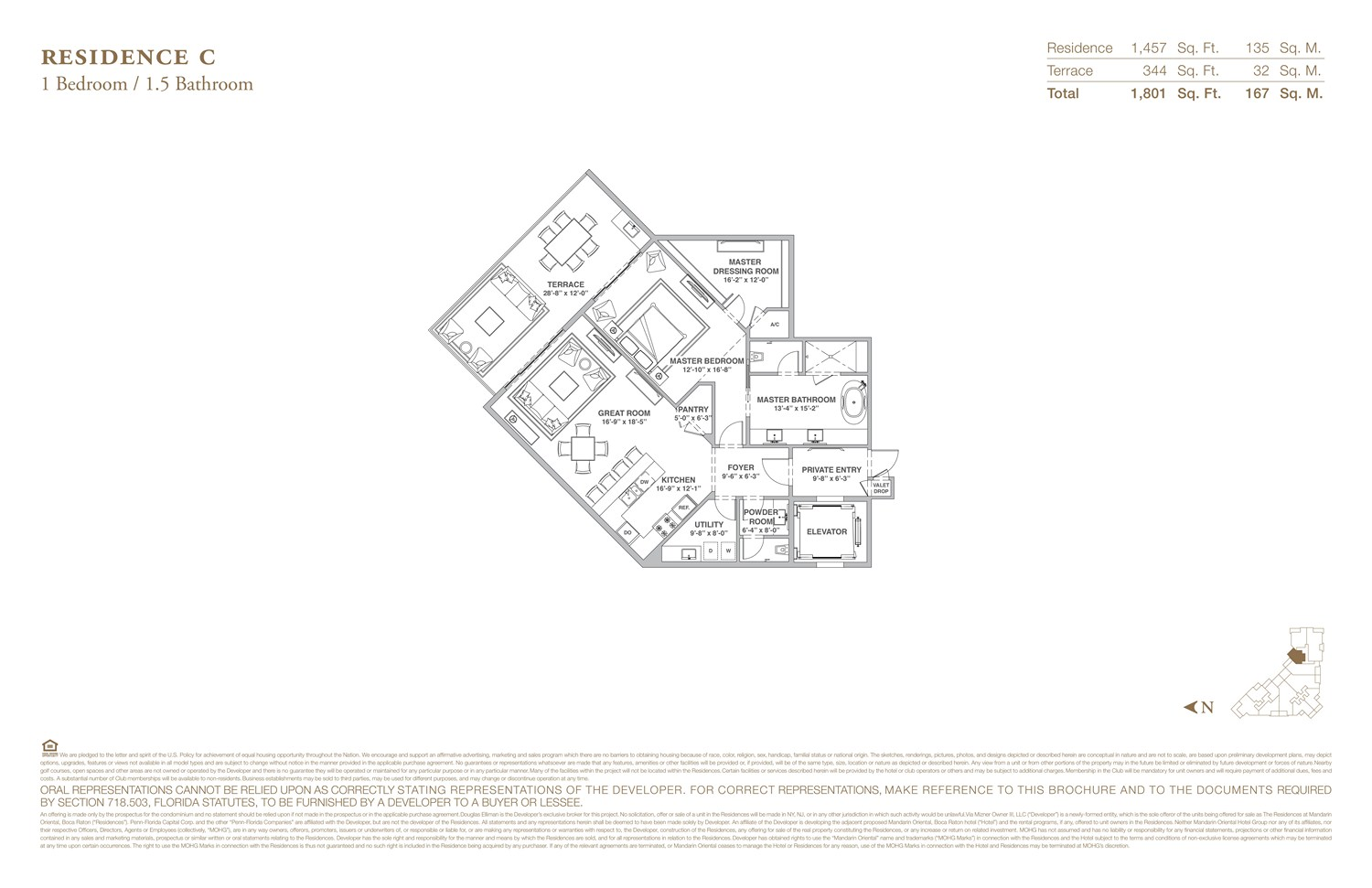 The Residences at Mandarin Oriental - Floorplan 3