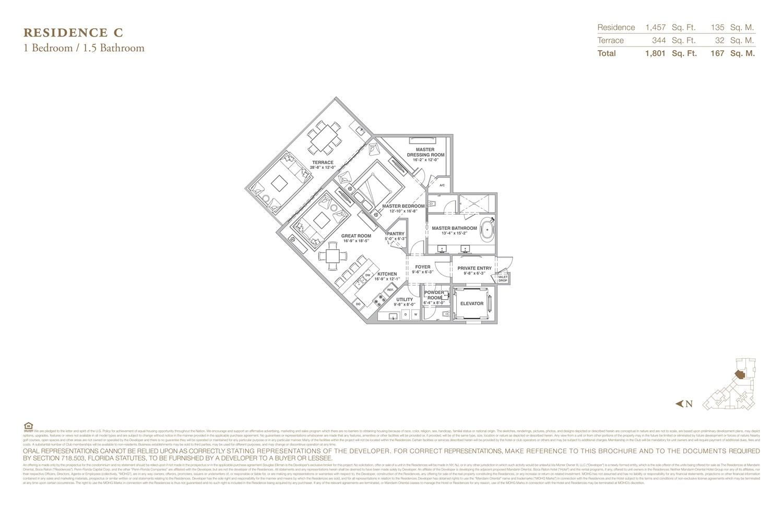 The Residences at Mandarin Oriental - Floorplan 3