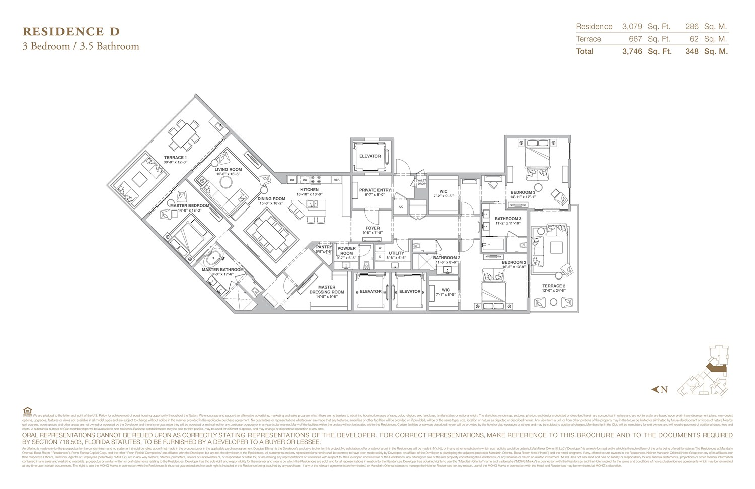 The Residences at Mandarin Oriental - Floorplan 4