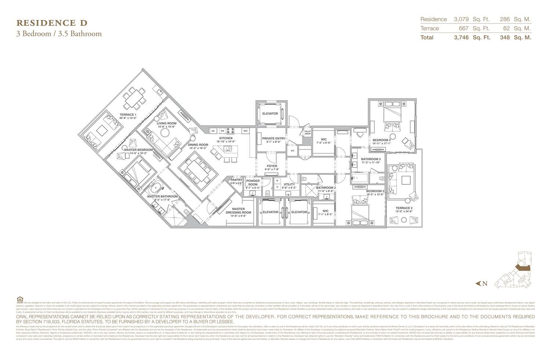 The Residences at Mandarin Oriental - Floorplan 4