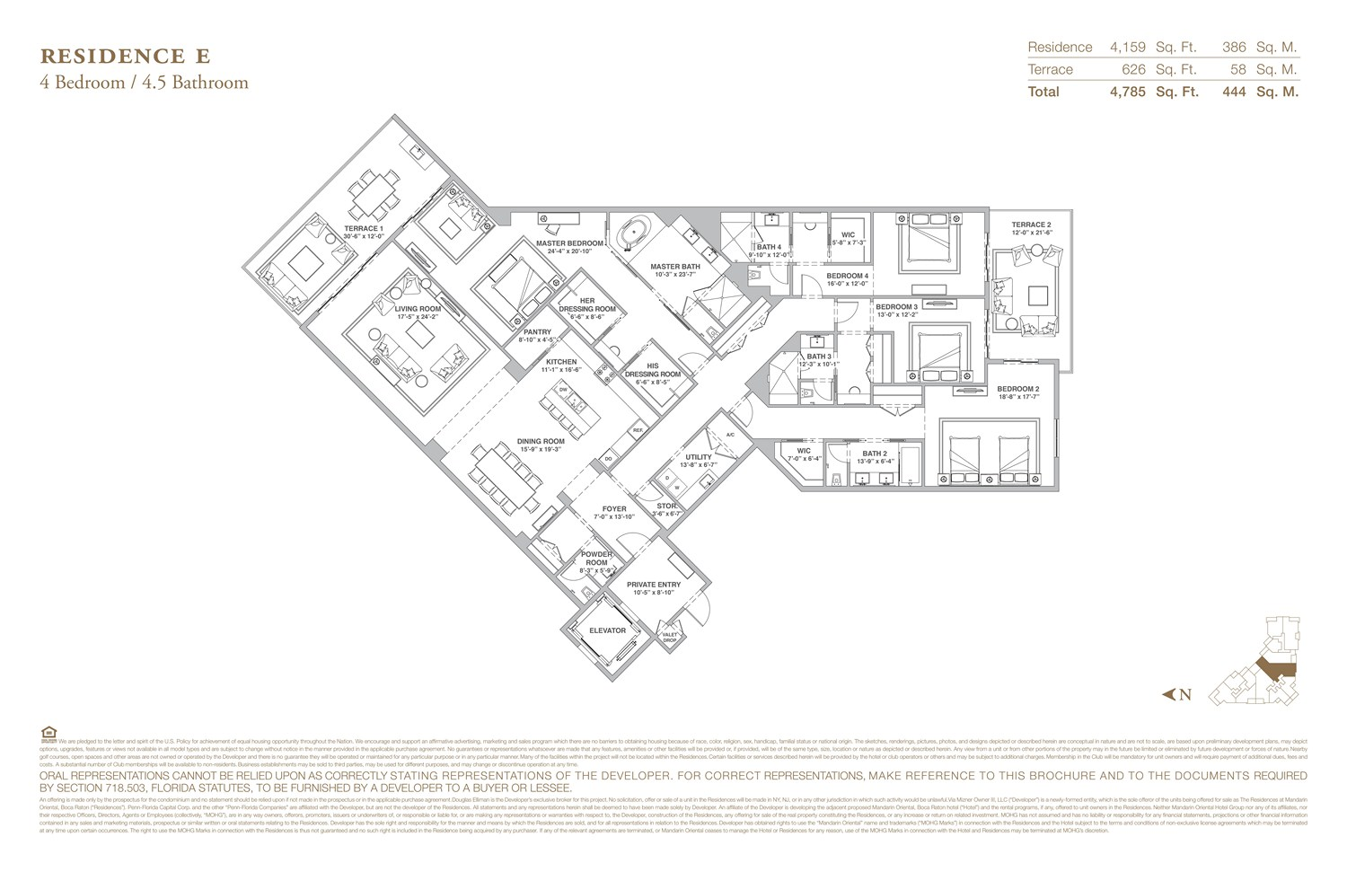 The Residences at Mandarin Oriental - Floorplan 5