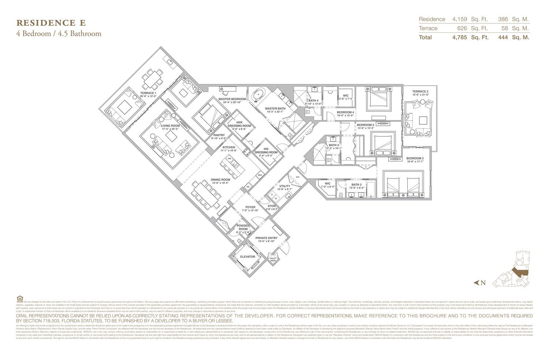 The Residences at Mandarin Oriental - Floorplan 5