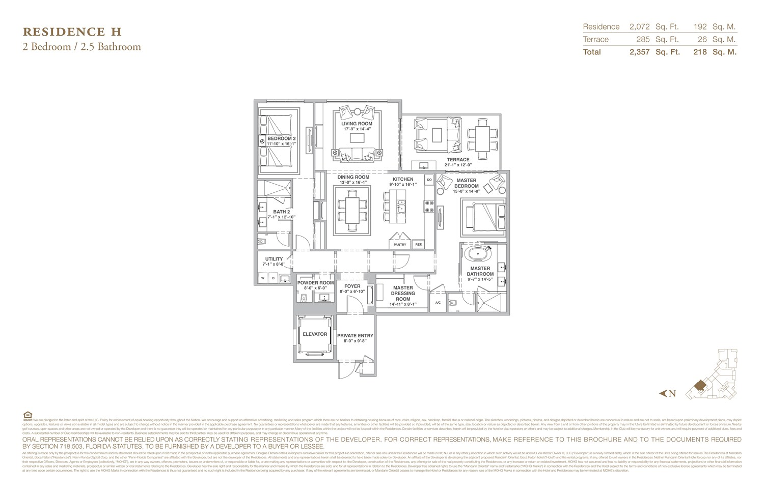 The Residences at Mandarin Oriental - Floorplan 8