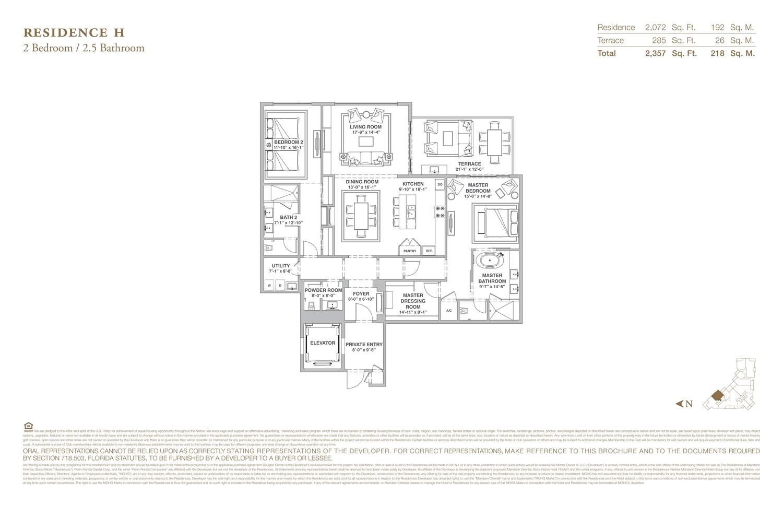 The Residences at Mandarin Oriental - Floorplan 8