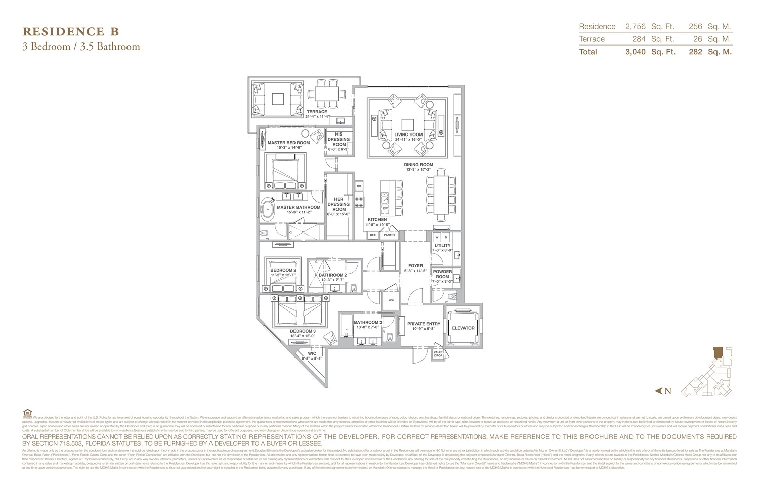 The Residences at Mandarin Oriental - Floorplan 2