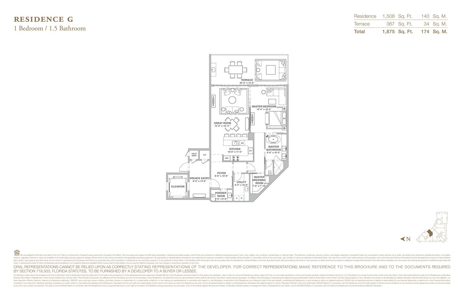 The Residences at Mandarin Oriental - Floorplan 7