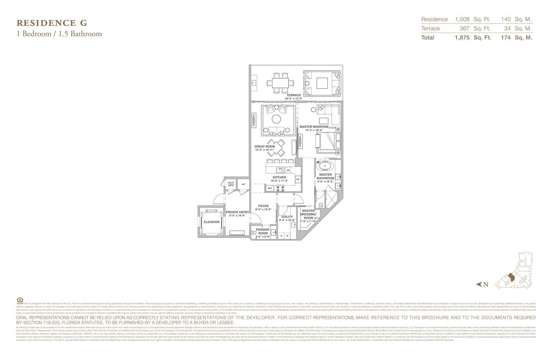 The Residences at Mandarin Oriental - Floorplan 7
