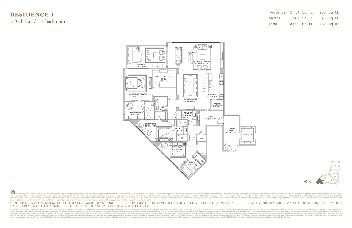 The Residences at Mandarin Oriental - Floorplan 9