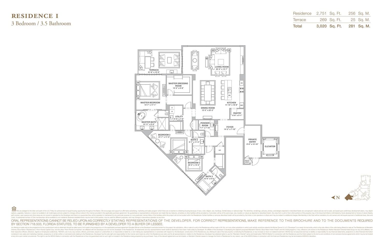 The Residences at Mandarin Oriental - Floorplan 9