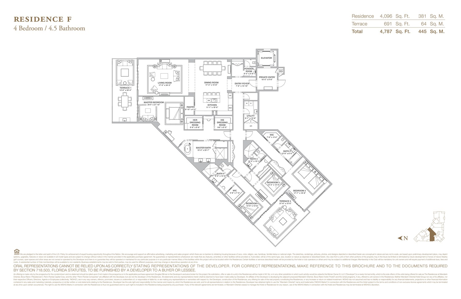 The Residences at Mandarin Oriental - Floorplan 6