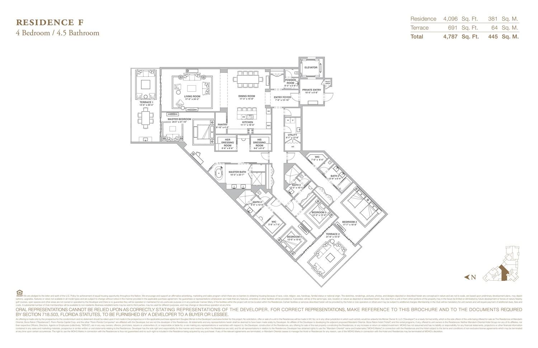 The Residences at Mandarin Oriental - Floorplan 6