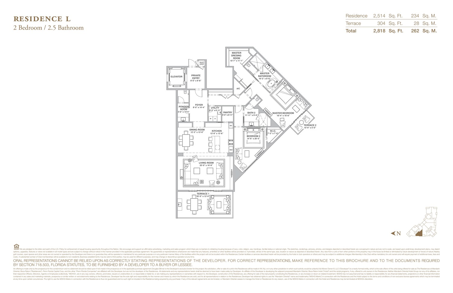 The Residences at Mandarin Oriental - Floorplan 12