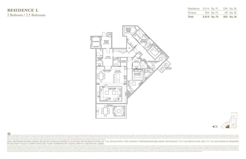The Residences at Mandarin Oriental - Floorplan 12