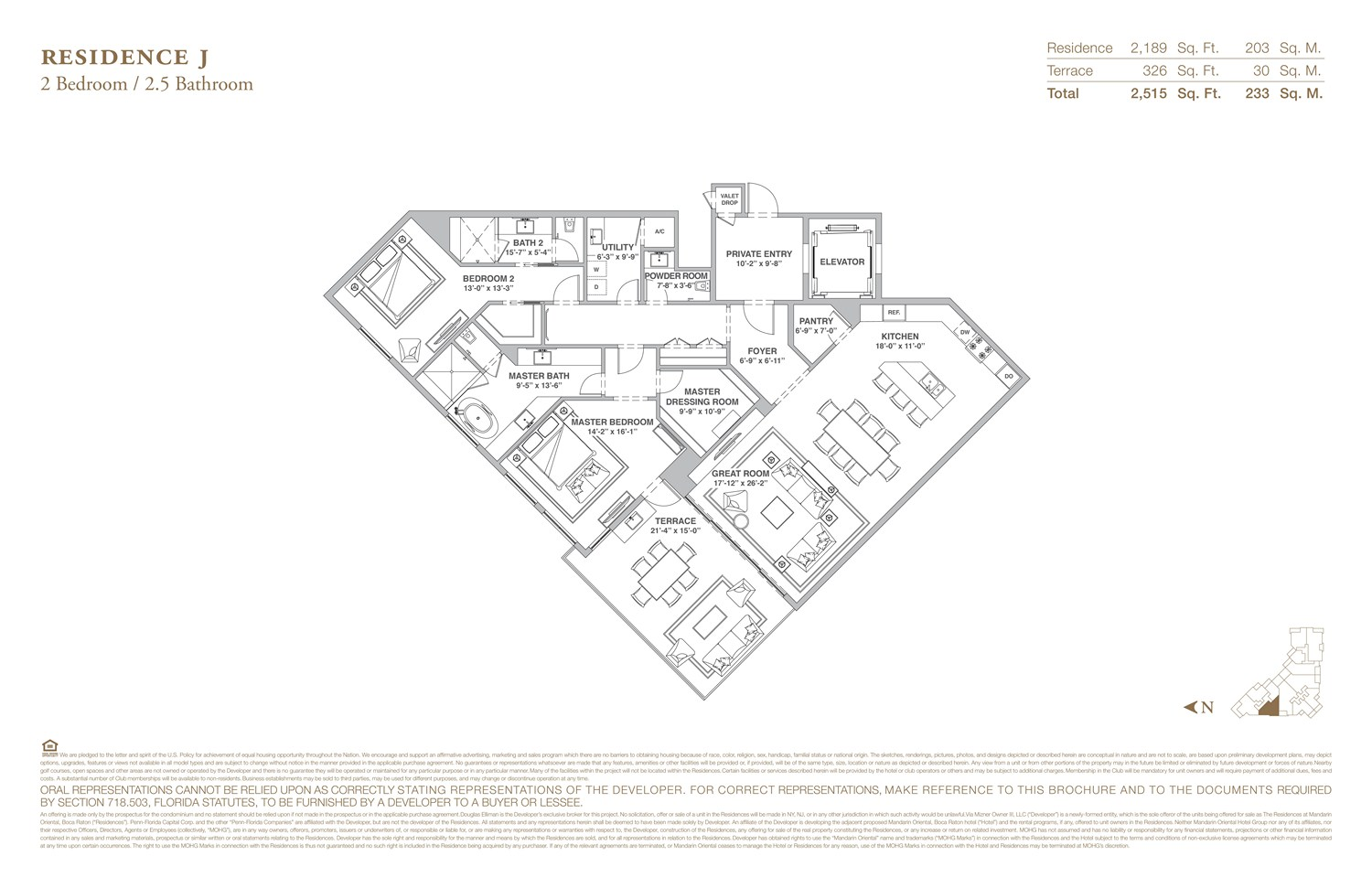 The Residences at Mandarin Oriental - Floorplan 10