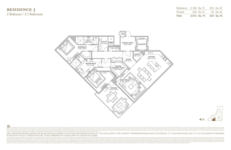 The Residences at Mandarin Oriental - Floorplan 10
