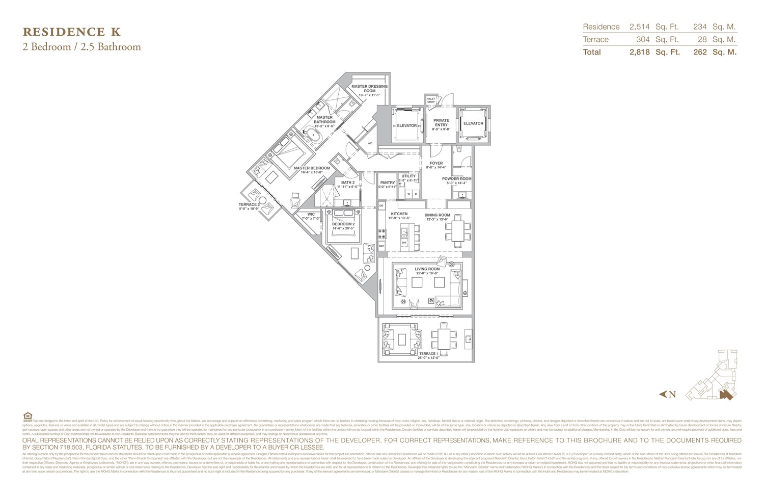 The Residences at Mandarin Oriental - Floorplan 11