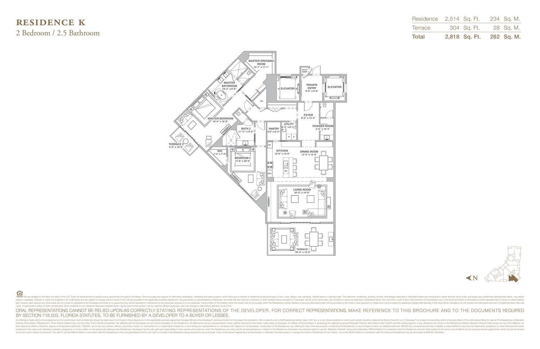 The Residences at Mandarin Oriental - Floorplan 11