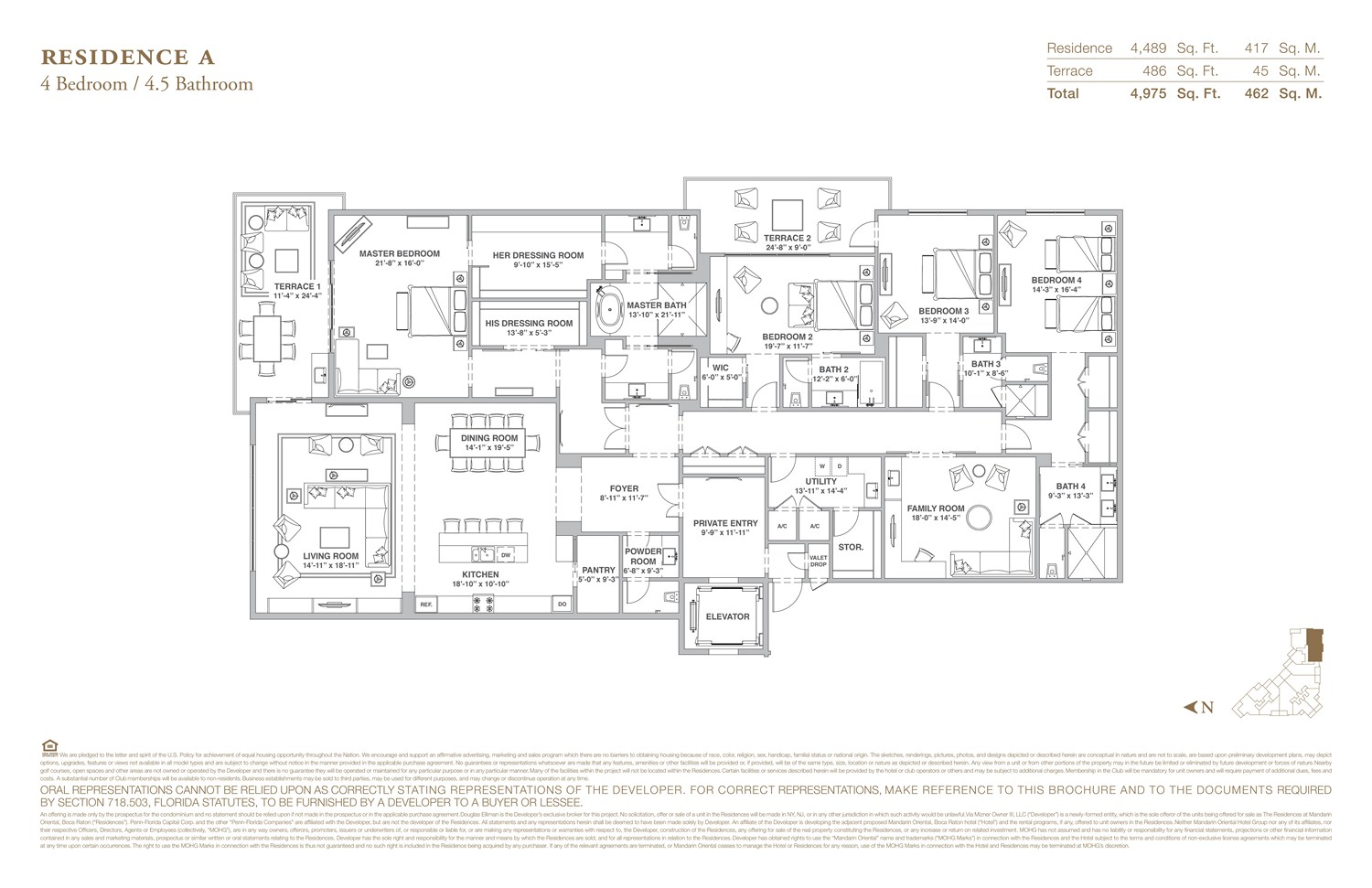 The Residences at Mandarin Oriental - Floorplan 1