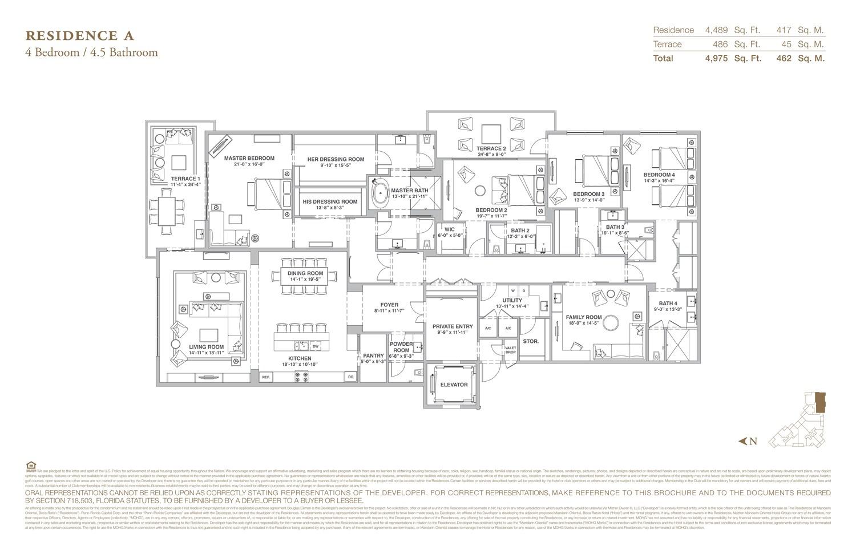 The Residences at Mandarin Oriental - Floorplan 1