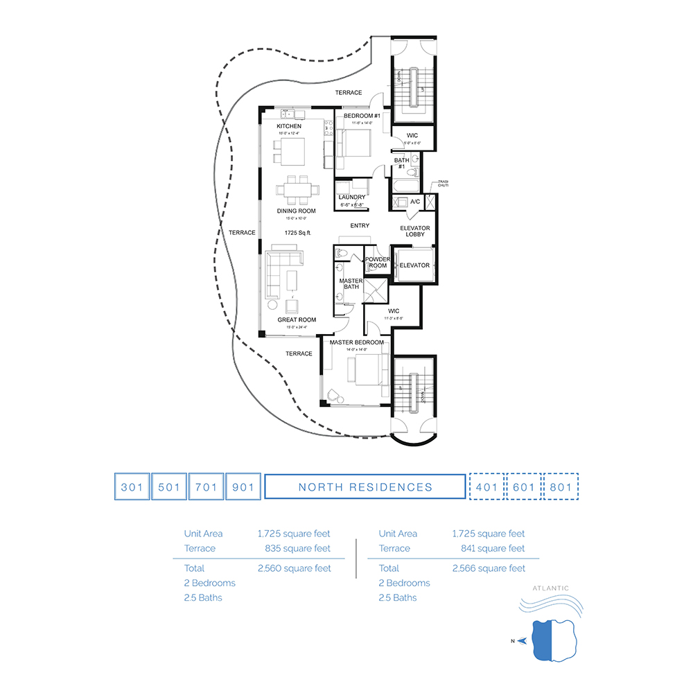 The Wave on Bayshore - Floorplan 1
