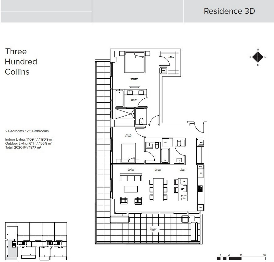 Three Hundred Collins - Floorplan 3
