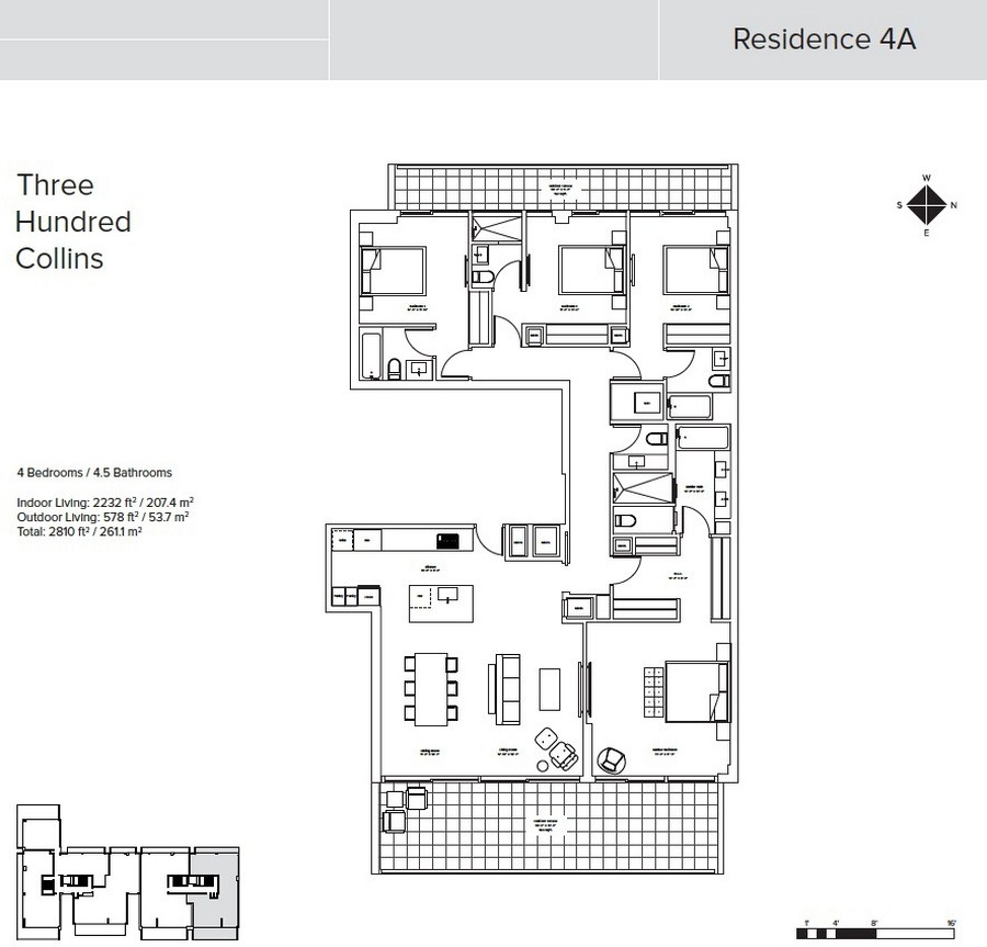 Three Hundred Collins - Floorplan 4