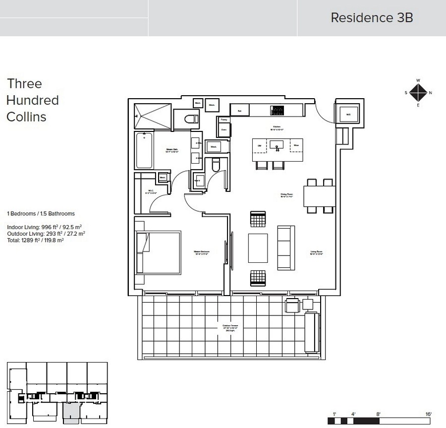 Three Hundred Collins - Floorplan 5
