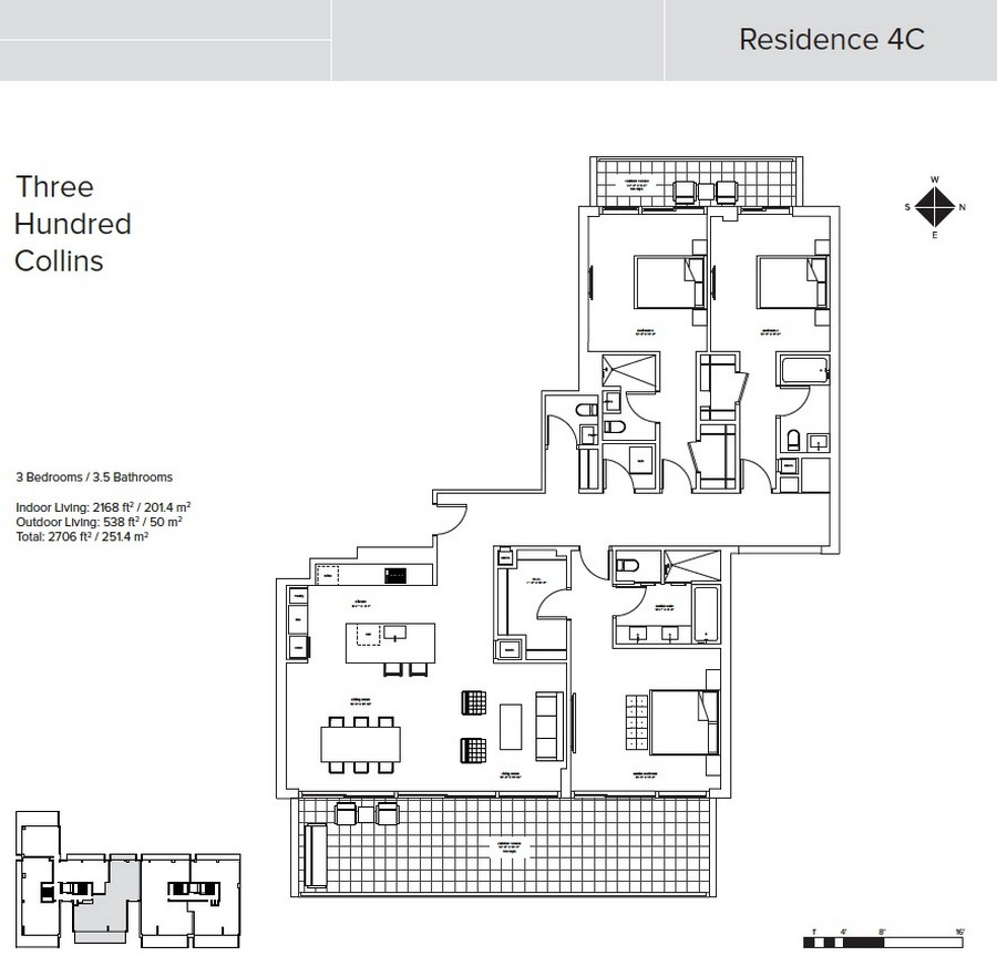 Three Hundred Collins - Floorplan 6