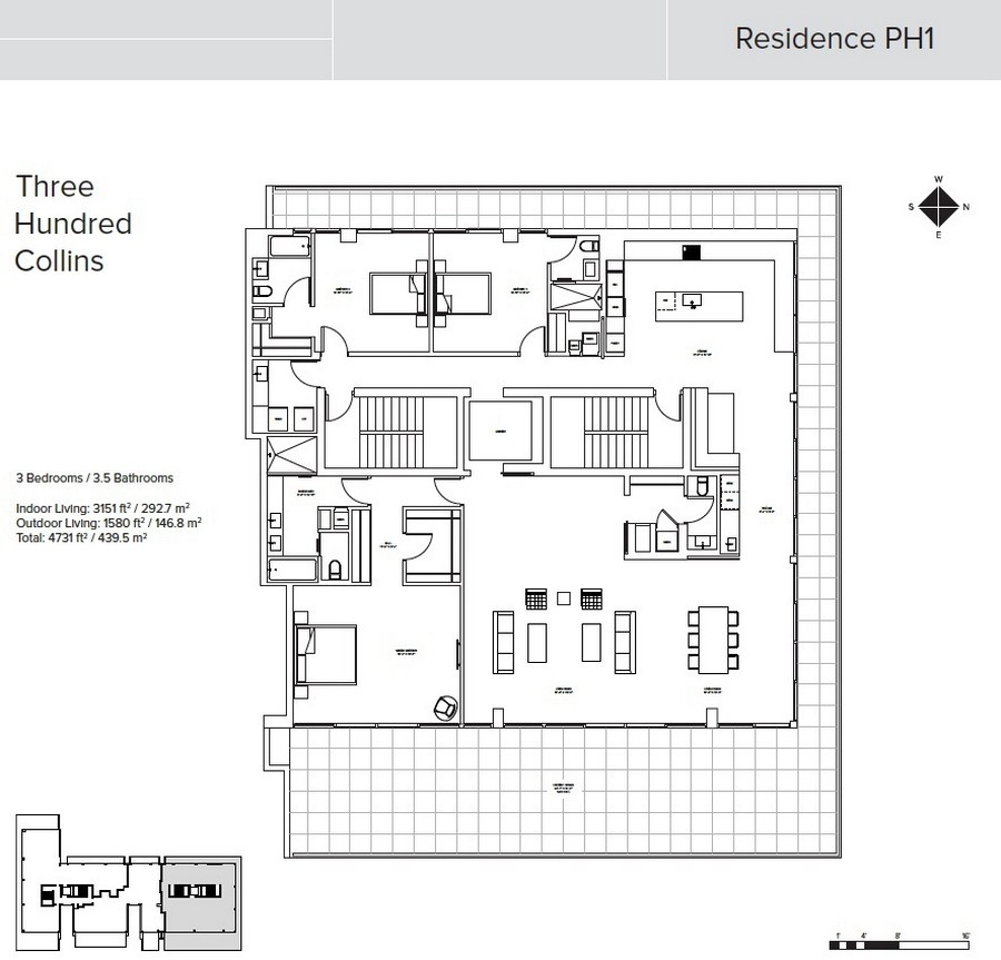 Three Hundred Collins - Floorplan 8