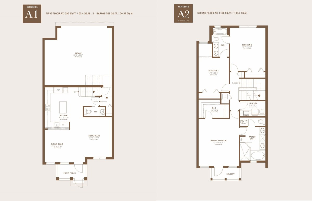 Townhomes At Downtown Doral - Floorplan 1