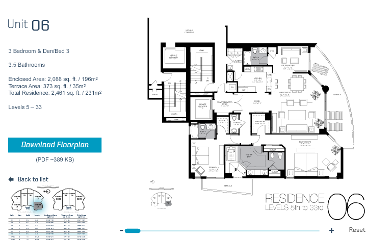 Trump Hollywood - Floorplan 6