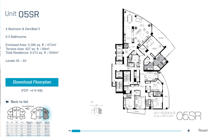 Trump Hollywood - Floorplan 8