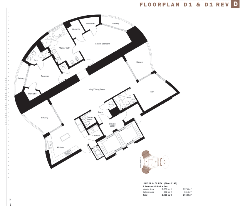 Trump International - Floorplan 6