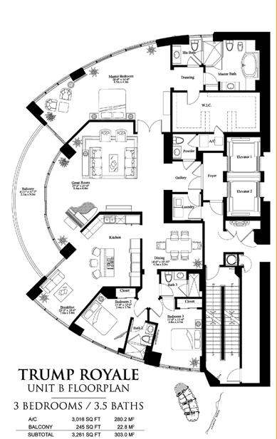 Trump Royale - Floorplan 3