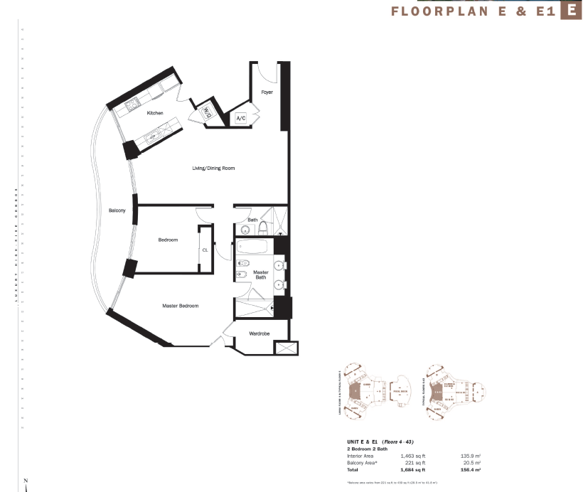 Trump Tower I - Floorplan 1