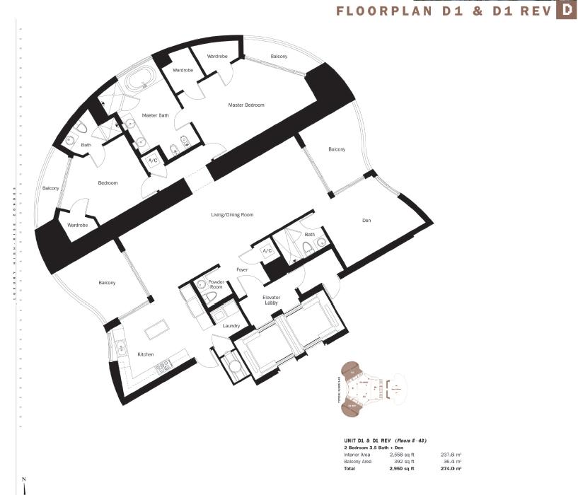 Trump Tower I - Floorplan 5