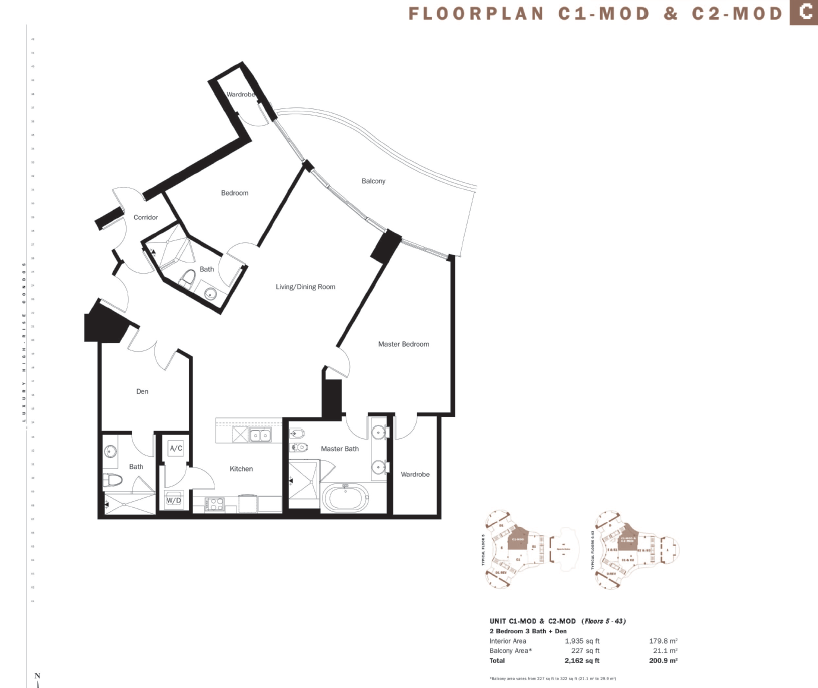 Trump Tower II - Floorplan 1